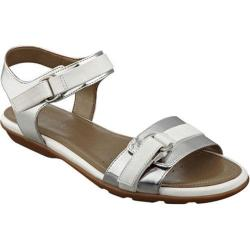 Women's Easy Spirit Ricosa Sandal Silver/White Synthetic