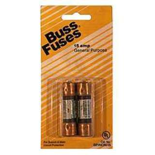 Bussman BP/NON-15 250 Volt Fuse Cartridge 18620896