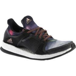 Women's adidas Pure Boost X Trainer Black/Dark Grey/Sun Glow