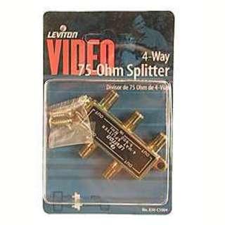 Leviton 830-C5004 4-Way Video Splitter