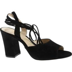 Women's Nine West Bellermo Heeled Sandal Black Suede