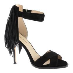 Women's Nine West Hustle Sandal Black/Black Leather
