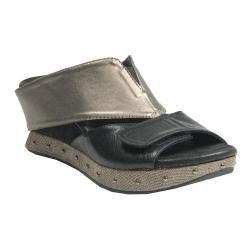 Women's MODZORI Gabbie Wedge T-Strap Sandal Pewter/Black