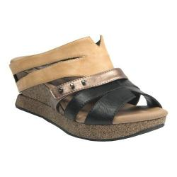 Women's MODZORI Myra Wedge T-Strap Sandal Cream/Black