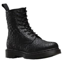 Women's Dr. Martens Brause Rose Quilted 8 Eye Boot Black Matte PU