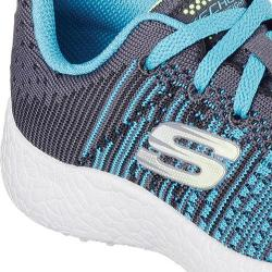 Boys' Skechers Burst In the Mix Sneaker Charcoal/Teal 18878587