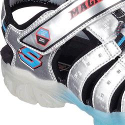 Boys' Skechers S Lights Magic Lites Sandal Silver/Blue