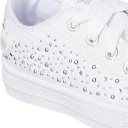 Girls' Skechers Twinkle Toes Shuffles Sparkle Spin Sneaker White
