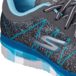 Girls' Skechers GO FLEX Walk Ability Walking Shoe Charcoal/Turquoise