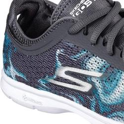 Women's Skechers GO STEP Daze Walking Shoe Charcoal/Blue 18881838