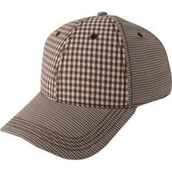 Men's Ben Sherman Multi Check Baseball Cap Brown