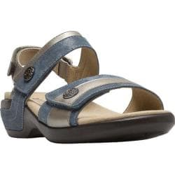 Women's Aravon Katherine Adjustable Strap Sandal Blue Multi