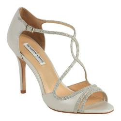 Women's Benjamin Adams London Megan Evening Sandal Ivory/Champagne Leather/Glitter Mesh