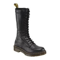 Women's Dr. Martens 1B99 14-Eye Zip Boot Black Virginia