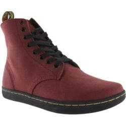 Men's Dr. Martens Alfie 8 Eye Boot R14846 Cherry Red Canvas