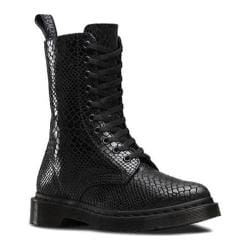 Women's Dr. Martens Alix 10-Eye Zip Boot Black Hi Shine Snake