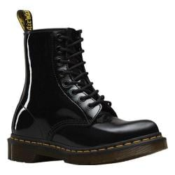 Women's Dr. Martens 1460 8-Eye Boot Patent Black Patent Lamper