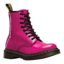 Women's Dr. Martens 1460 8-Eye Boot Patent Hot Pink Patent Lamper