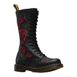 Women's Dr. Martens Embroidery Vonda 14 Eye Boot Black Softy T