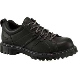 Dr. Martens Finnegan 6 Eye Padded Collar Shoe Black Greasy