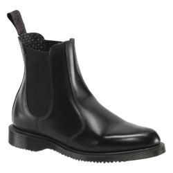 Women's Dr. Martens Flora Chelsea Boot Black Polished Smooth