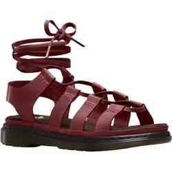 Women's Dr. Martens Kristina Ghillie Sandal Deep Red Oily Illusion