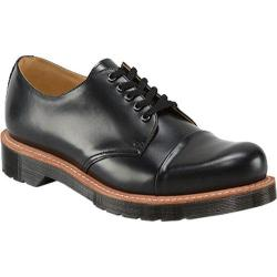 Men's Dr. Martens Leigh 5-Eye Toe Cap Shoe Black Polished Smooth