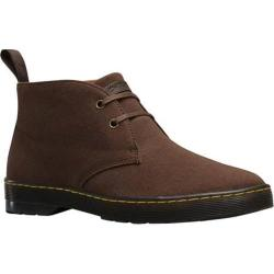 Men's Dr. Martens Mayport 2-Eye Desert Boot Dark Brown Overdyed Twill Canvas