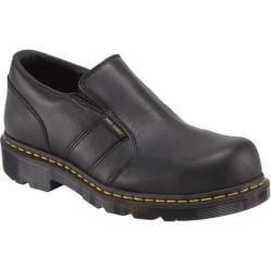 Men's Dr. Martens Resistor Steel Toe Slip On ESD Black Industrial Full Grain Leather