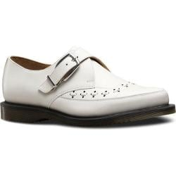 Dr. Martens Rousden Monk Strap White Smooth