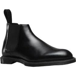 Men's Dr. Martens Wilde Low Chelsea Boot Black Wax Polished Smooth
