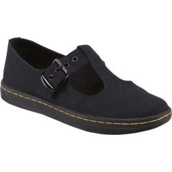Women's Dr. Martens Woolwich T-Bar Black Canvas