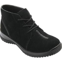 Women's Drew Krista Lace Up Bootie Black Suede