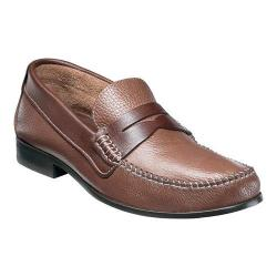 Men's Florsheim Felix Two-Tone Penny Loafer Cognac Milled/Brown Smooth Leather
