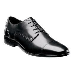 Men's Florsheim Jet Cap Ox Black Smooth Leather