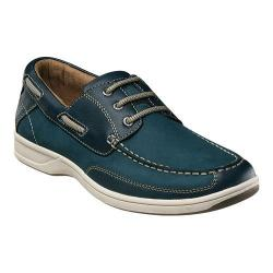 Men's Florsheim Lakeside Ox Boat Shoe Navy Nubuck