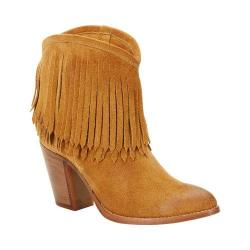 Women's Frye Ilana Fringe Short Boot Sand Suede