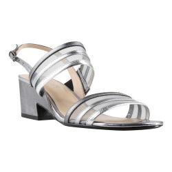 Women's J. Renee Erma Sandal Pewter/Silver Metallic Nappa Leather/Mesh