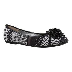 Women's J. Renee Geezelouise Black/White Monochrome Patchwork Fabric