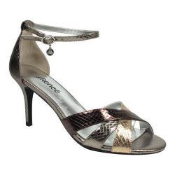 Women's J. Renee Hillrise D'Orsay Stiletto Nickel/Blush/Bronze Snake Print Fabric