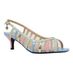 Women's J. Renee Rebeka Slingback Sandal Pastel Multi Faux Patent/Grosgrain/Snake Fabric
