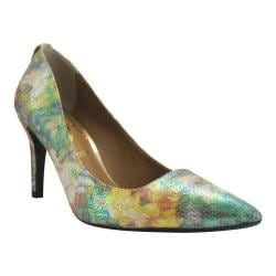 Women's J. Renee Rivka Pump Neutral Multicolored Pebble Floral Print Fabric