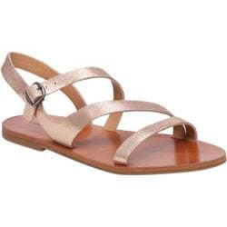 Women's Lucky Brand Alexcia Strappy Sandal Blush Metallic Leather