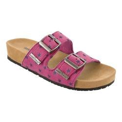 Girls' Minnetonka Gigi Slide Hot Pink Synthetic/Purple Stars