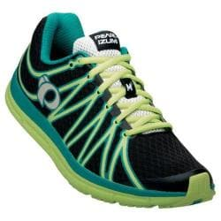 Women's Pearl Izumi EM Road M 2 v2 Running Shoe Sunny Lime/Paradise Green