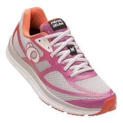 Women's Pearl Izumi EM Road M 2 v3 Running Shoe Silver/Ibis Rose