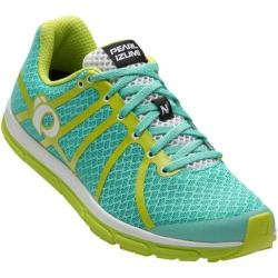 Women's Pearl Izumi EM Road N 1 v2 Running Shoe Aqua Mint/Lime Punch