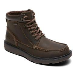 Men's Rockport Boat Builders Waterproof Moc Toe Boot Dark Brown