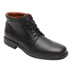 Men's Rockport Dressports Luxe Waterproof Pt Chukka Black Leather