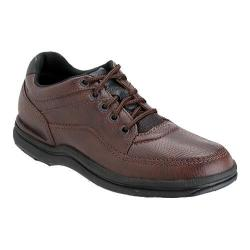 Men's Rockport World Tour Classic Walking Shoe Brown Tumbled